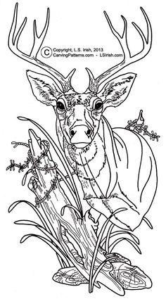 Free Deer Print Wood-Burning Patterns | Wood Burning Sepia Values