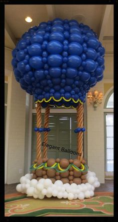 Gorgeous LINK-O-LOON Hot Air Balloon for Photo op made by www.elegant-balloons.com