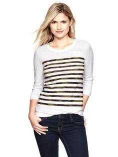 Gap camo stripe tee! Bought this today, love it!