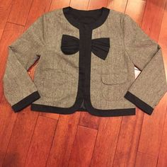 Cute jacket Bow detail and pockets!! Great condition! Jackets & Coats