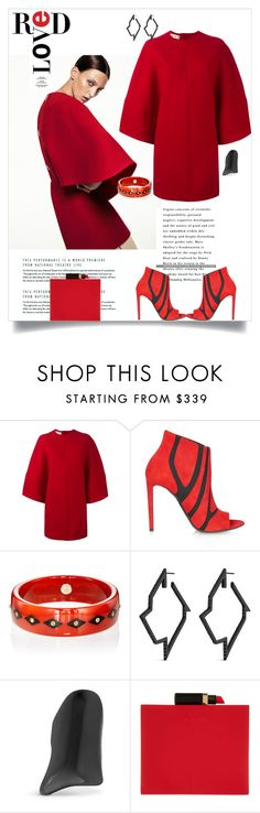 """Red Love"" by shoecraycray ❤ liked on Polyvore featuring Marni, Balenciaga, Mark Davis, Lynn Ban and Lulu Guinness"