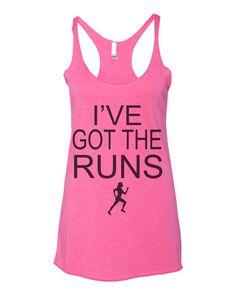 I've Got The Runs Women's Triblend Racerback Tank Top - Best Coast Shirts