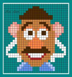 アイロンビーズで作る「ディズニー/ピクサー」キャラクター〜無料図案31選!! Melty Bead Patterns, Hama Beads Patterns, Beading Patterns, Cross Stitch Books, Cross Stitch Baby, Disney Cross Stitch Patterns, Cross Stitch Designs, Toy Story, Modele Pixel Art