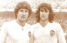 Fernando Morena y Mario Kempes. Valencia, C.F.