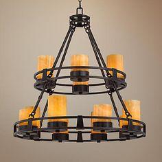 Laura Lee Buckingham 24-Light Large Candle Chandelier - #R5349 | www.lampsplus.com