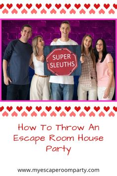 Thrill your loved ones this Valentine's Day with an exciting and unforgettable escape room party extravaganza! My Escape, Escape Room, Fun Activities For Kids, Games For Kids, Family Game Night, Birthday Fun, Party Stuff, House Party, Getting Things Done