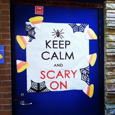 School door Halloween decoration