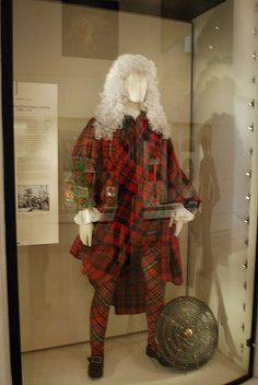 plaid/tartan suit commissioned and worn by an English Jacobite, Sir John Hynde Cotton, Baronet (1686 – 1752) see also http://www.nms.ac.uk/infozone/scotland_transformed.aspx