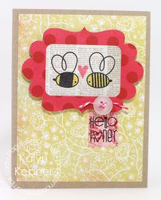 Card by PS DT Kalyn Kepner using the PS stamp set Bee Mine