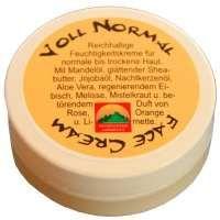 (Probe erhalten) heymountain - Voll Normal Face Cream - REICHHALTIGE Feuchtigkeitskreme für normale bis trockene Haut - Der Duft ist frisch-orangig mit betont verschwenderischem Einsatz von Rosen Absolue und Rosenöl - ganz ok, aber die Sensibelle empfinde ich als pflegender/ angenehmer