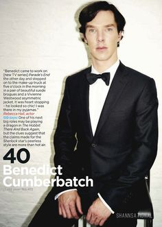 Benedict Cumberbatch. I really do find him attractive (obviously) but you've got to admit, he is a strange looking guy.