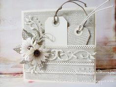 Gallery of handicrafts: Card with tags.  Beautiful and practical - a two-fold gift. Wonderful idea! :)