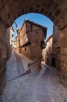 Aesthetic Japan, City Aesthetic, City Landscape, Landscape Paintings, Landscapes, Spain And Portugal, Aragon, Old City, Old Town