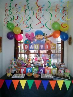 Super Cute Rainbow Party Decorations For Kids They Will Love Rainbow Party Decorations, Rainbow Parties, Birthday Decorations, 2nd Birthday Party Themes, Rainbow Birthday Party, Baby Birthday, Festa Toy Story, First Birthdays, Ideas Para