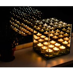 Excel Infinity Light Cube 9 Windlicht Cubes, Infinite Mirror, Infinity Lights, Mirror With Lights, Interior Lighting, Mind Blown, Home And Garden, Design Inspiration, Candles