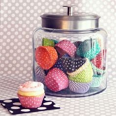 Always looking for new ideas to fill glass jars.  Love this for the counter top.