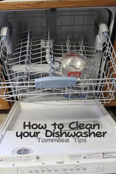 cleaning your dishwaster