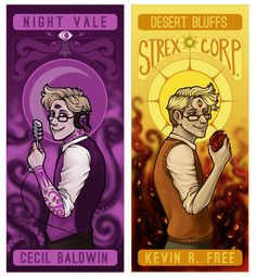 Welcome to Night Vale Fan Art on Behance <-- reminds me of tarot cards