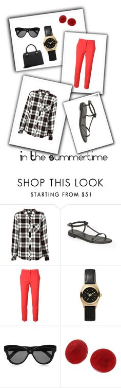 """""""In The Summertime"""" by jostockton ❤ liked on Polyvore featuring Rails, KG Kurt Geiger, Etro, Nixon, Linda Farrow and Victoria Beckham"""