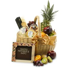Mother's Day Fruit, Cheese & Biscuits #MothersDay #Hamper