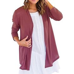 Oberora Womens Basic Cotton Lightweight Open Front Cardigan Coat *** Details can be found by clicking on the image. (This is an affiliate link and I receive a commission for the sales) #Sweaters