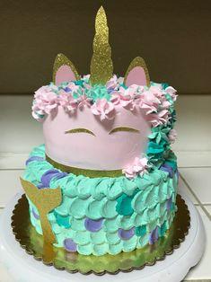 Unicorn-Mermaid Cake 6-8 inch
