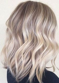 Crystal ash blonde ombre - the perfect lob - 2016 hair trends