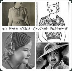 10 Best Free Vintage Crochet Patterns of the 1930s