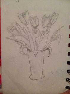 Tulips Tulips, Drawings, Art, Sketch, Kunst, Portrait, Drawing, Tulip, Resim