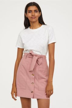 35b6e00cc2 Lyocell-blend Utility Skirt - Vintage pink - Ladies