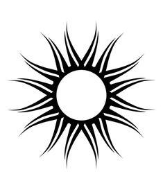 tribal sun by on deviantART Sun Tattoo Tribal, Moon Sun Tattoo, Fire Tattoo, Tribal Sleeve Tattoos, Sun Tattoos, Celtic Tattoos, Black Tattoos, Hawaii Tattoos, Stammestattoo Designs