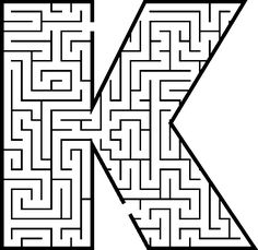 Maze of the letter K