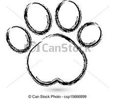 Znalezione obrazy dla zapytania łapa psa logo
