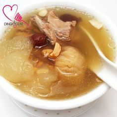 Miki's Food Archives : Winter Melon Pork Ribs Soup ~ Pressure Cooker Recipe 冬瓜瑶柱排骨汤 - 清热解暑,有助利尿消水肿