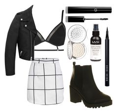 """Untitled #27"" by juliettepep ❤ liked on Polyvore featuring Topshop, Yves Saint Laurent, Guerlain, Bobbi Brown Cosmetics, Office and Giorgio Armani"