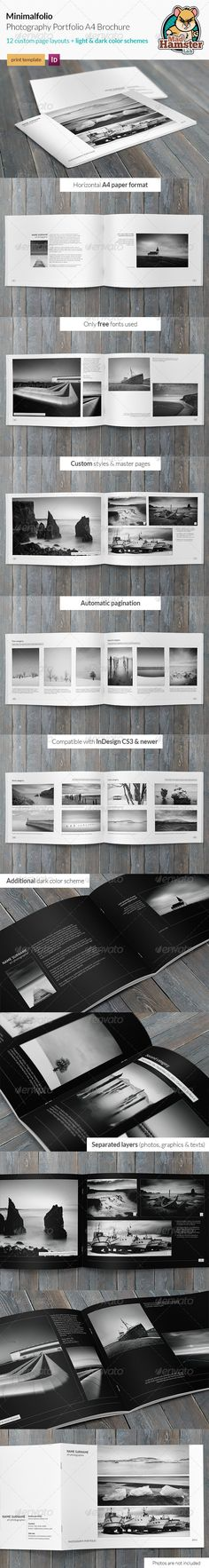 Buy Minimalfolio Photography Portfolio Brochure by MadHamsterLab on GraphicRiver. Minimalfolio is a horizontal photography portfolio brochure. Minimal style makes a clean and elegant look. Portfolio Design Layouts, Layout Design, Portfolio Examples, Print Layout, Print Design, Portfolio Presentation, Presentation Layout, Presentation Boards, Architectural Presentation