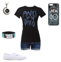 """""""PANIC! AT THE DISCO"""" by a-hidden-secret ❤ liked on Polyvore featuring VILA and Vans"""
