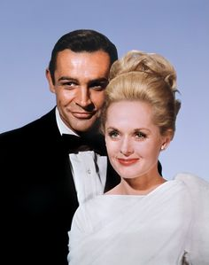 """Sean Connery as Mark Rutland and Tippi Hedren as Margaret """"Marnie"""" Edgar in Marnie a 1964 psychological thriller directed by Alfred Hitchcock and based on the novel of the same name by Winston Graham. Old Hollywood Glamour, Vintage Hollywood, Hollywood Stars, Classic Hollywood, Vintage Glamour, Hollywood Couples, Alfred Hitchcock, Hitchcock Film, Tippi Hedren"""