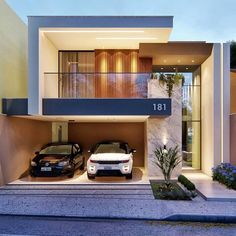 Most 50 Beautiful House Design For 2020 - Engineering Discoveries Modern Exterior House Designs, Modern House Facades, Modern Architecture House, Modern House Plans, Modern House Design, 2 Storey House Design, Bungalow House Design, House Front Design, Small House Design