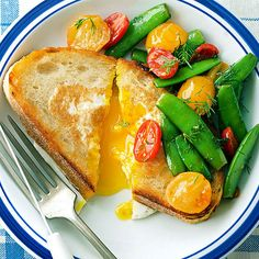 Start your day off right with this old-fashioned sourdough toast and egg dish! More egg recipes for breakfast: http://www.bhg.com/recipes/breakfast/brunch/egg-recipe-ideas-for-brunch/?socsrc=bhgpin053013basket=18