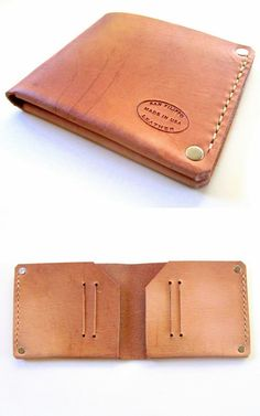 Oiled Leather Bifold Wallet. Nice slim minimalist mens wallet from San Filippo…
