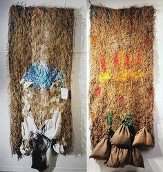 Grau Garriga, Dyptique, Al padre Al Madre : Les musées d'Angers Picasso, Sheila Hicks, Textiles, Expo, Tapestry Weaving, Portraits, Fabric Art, Mixed Media Art, Textile Art