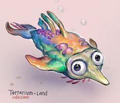 """Sketch for 3d arcade indie game """"Terrarium-land"""". #terrarium_land, #animals, #conceptart, #art, #gamedev, #indiedev,"""