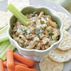 Serve this dip with gluten-free rice crackers or mixed fresh vegetables. Making the recipe a day ahead allows the flavors to meld.