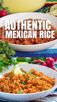 This Mexican rice recipe makes the perfect side dish for tacos burritos chicken and even burgers. Make some delicious fluffy Mexican red rice for dinner tonight its easy! Taco Side Dishes, Mexican Side Dishes, Side Dishes Easy, Rice Dishes, Rice For Burritos, Tacos And Burritos, Mexican Burritos, Mexican Burger, Red Rice Recipe Mexican