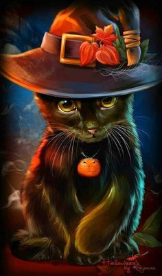Black Cat by Kajenna on DeviantArt Tap the link for an awesome selection cat and kitten products for your feline companion! Animals And Pets, Baby Animals, Cute Animals, Fröhliches Halloween, Halloween Black Cat, Image Chat, Photo Chat, Cute Animal Drawings, Cat Drawing