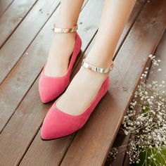 Color: green, beige, pink, black Size: US 12 (All Measurement In Cm And Please Note Note:Use Size Us 5 As Measurement Standard, Plus/Minus Shoes Flats Sandals, Ankle Strap Flats, Ankle Straps, Heels, Stilettos, Fancy Shoes, Pretty Shoes, Hot Shoes, Pink Flat Shoes
