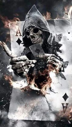 I, the Ace of Spades will come for you. Swiftly...silently...and you won't ever know what killed you. Unless I'm angry