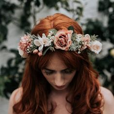 Adele Wedding Rose Flower Crown by Luna and Wild, the perfect gift for Explore more unique gifts in our curated marketplace. Flower Crown Wedding, Bridal Flowers, Rose Wedding, Flowers In Hair, Crown Flower, Forest Wedding, Woodland Wedding, Bouquet Wedding, Wedding Nails