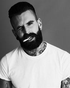 Beard. Tattoos, Neck Tattoos, Beards and Sexy Bearded Men.